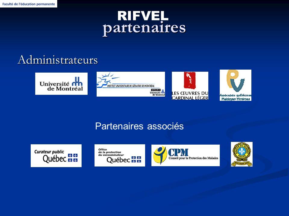 partenaires Administrateurs RIFVEL Partenaires associés