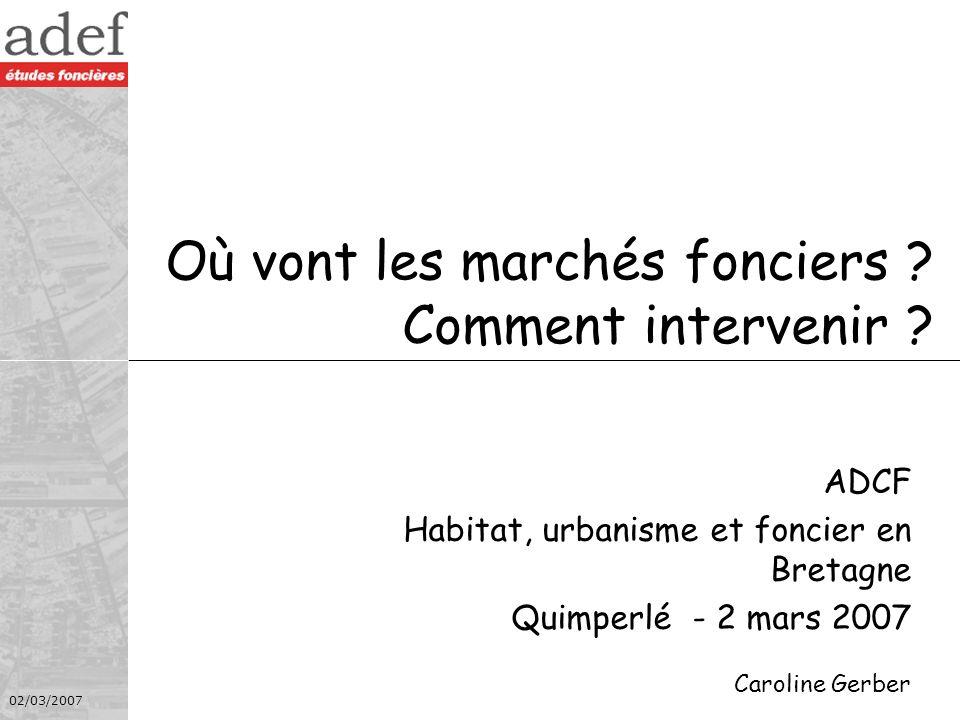 02/03/2007 Le contexte conjoncturel