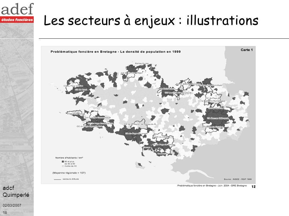 02/03/2007 19 adcf Quimperlé Source : Région Bretagne Les secteurs à enjeux : illustrations