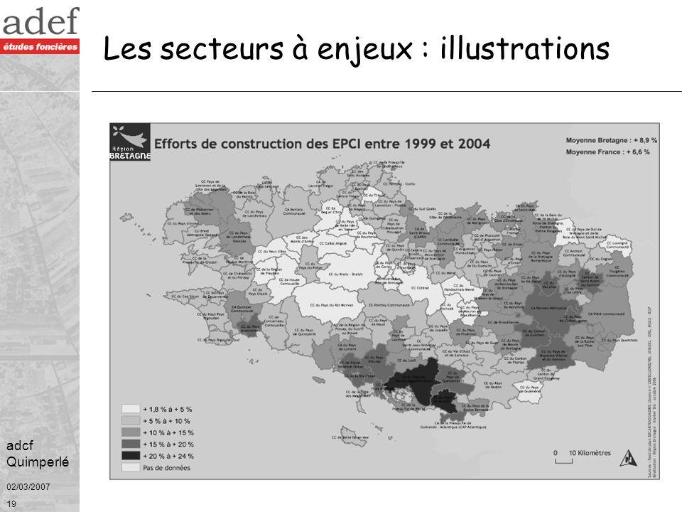 02/03/2007 20 adcf Quimperlé Les secteurs à enjeux : illustrations