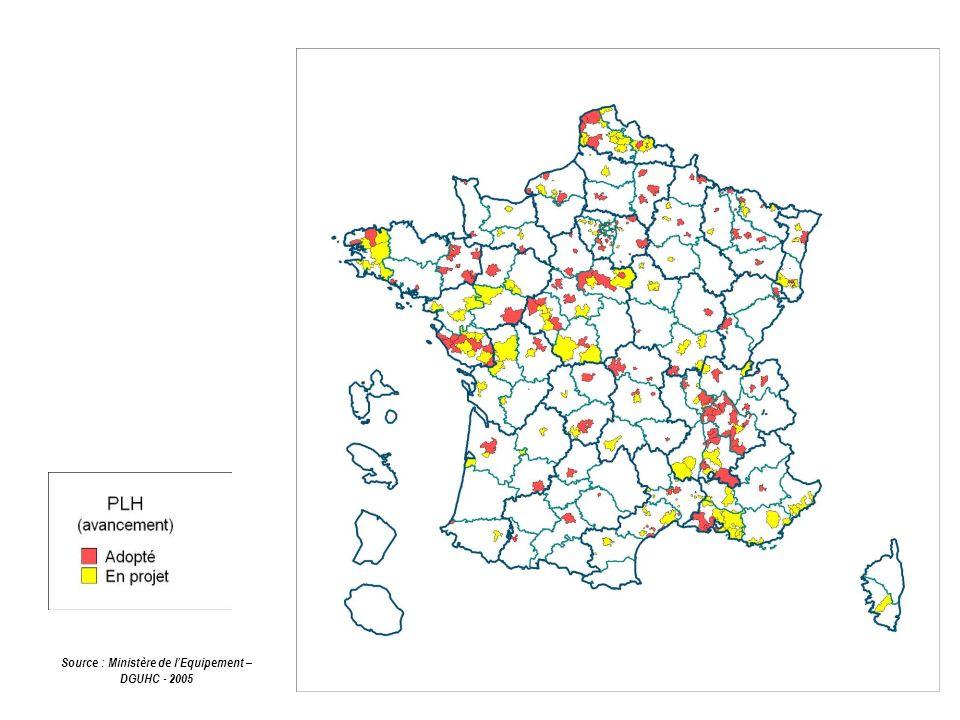 Source : Ministère de lEquipement – DGUHC - 2005