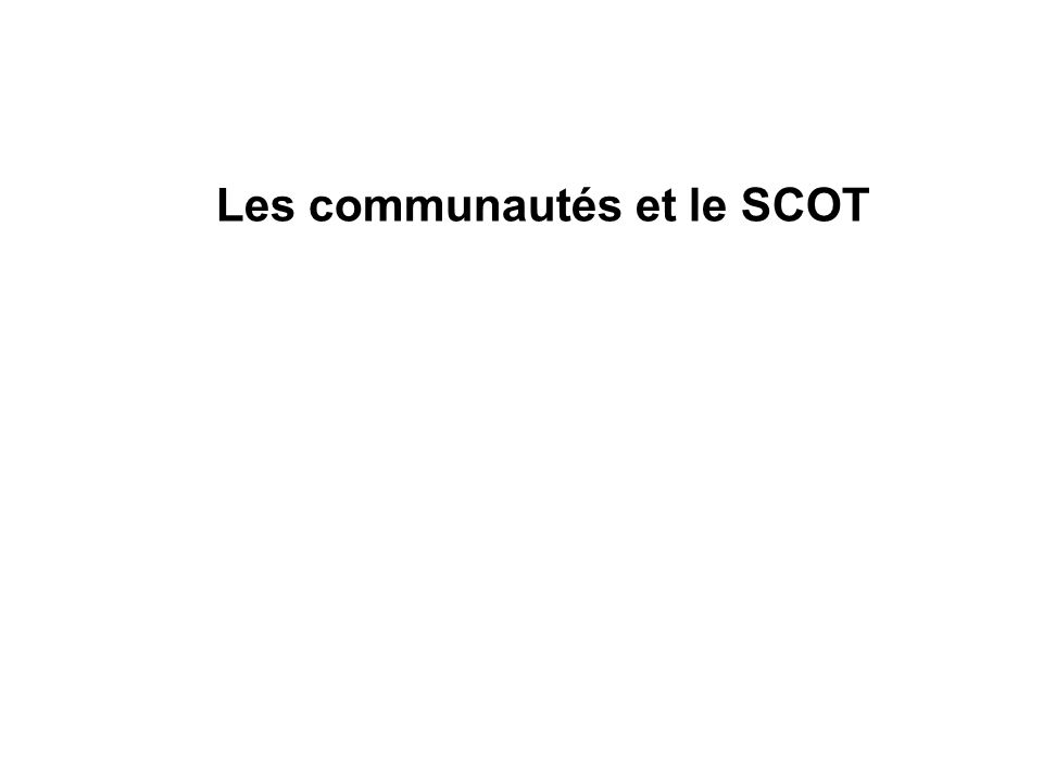 Les communautés et le SCOT