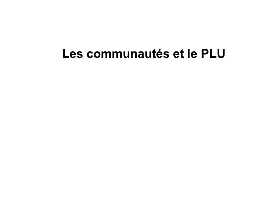 Les communautés et le PLU