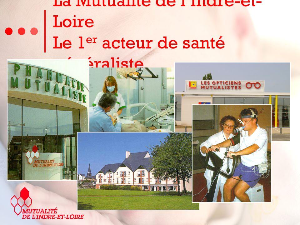 La Mutualité de lIndre-et- Loire Le 1 er acteur de santé généraliste