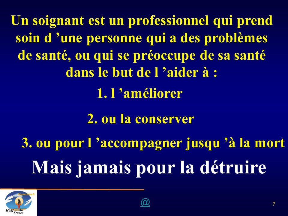 @ 7 Un soignant est un professionnel qui prend soin d une personne qui a des problèmes de santé, ou qui se préoccupe de sa santé dans le but de l aide