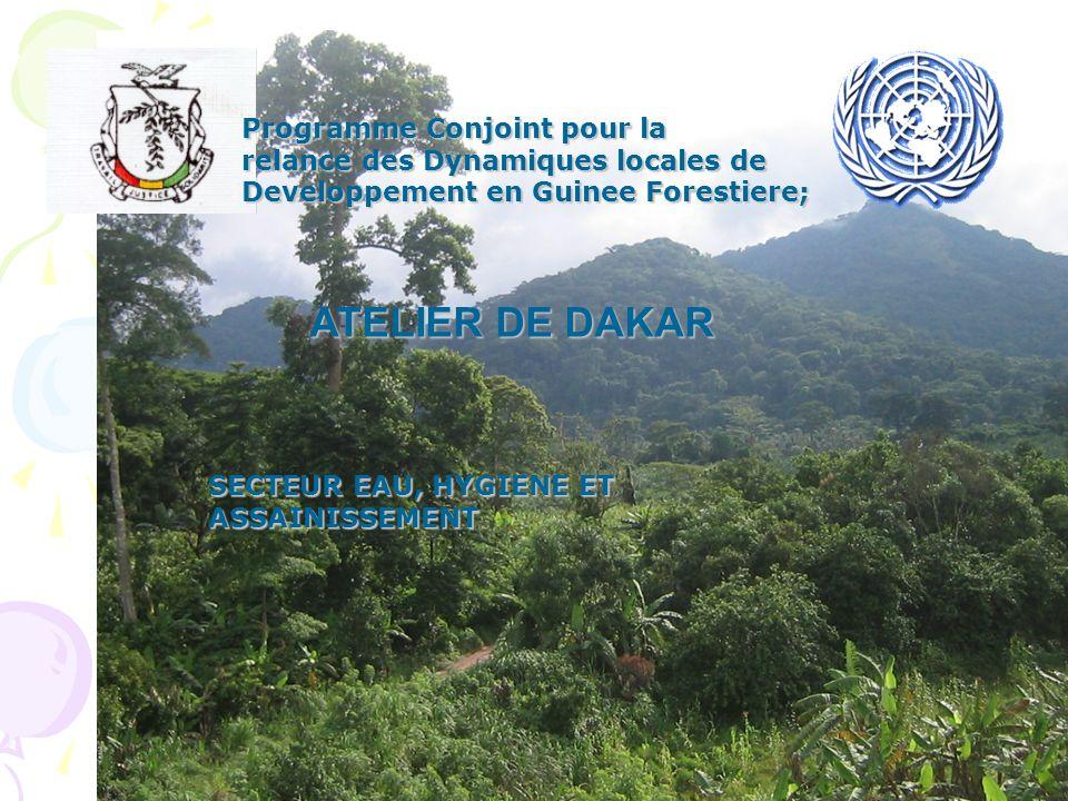 Programme Conjoint pour la relance des Dynamiques locales de Developpement en Guinee Forestiere; ATELIER DE DAKAR SECTEUR EAU, HYGIENE ET ASSAINISSEME