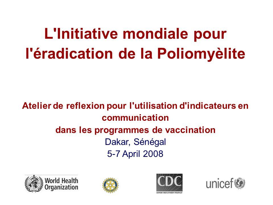 L'Initiative mondiale pour l'éradication de la Poliomyèlite Atelier de reflexion pour l'utilisation d'indicateurs en communication dans les programmes