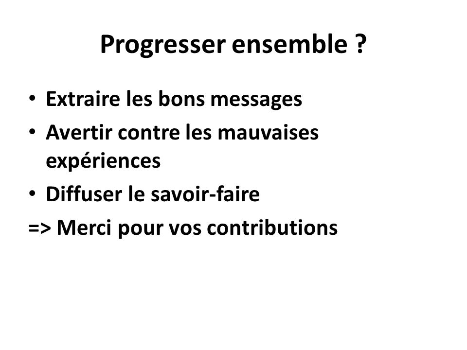 Progresser ensemble .