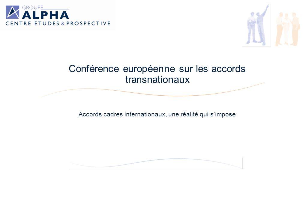 Conférence européenne sur les accords transnationaux Accords cadres internationaux, une réalité qui simpose Siège social : 36, rue Saint Marc 75084 Paris Cedex 02 Tel : 01 40 15 56 00