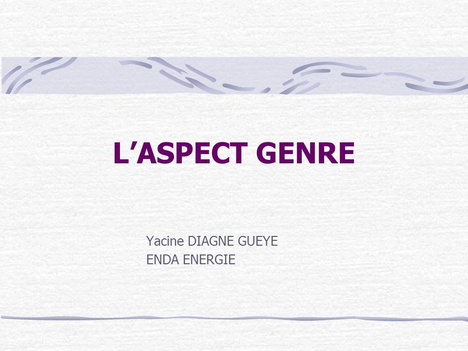 LASPECT GENRE Yacine DIAGNE GUEYE ENDA ENERGIE