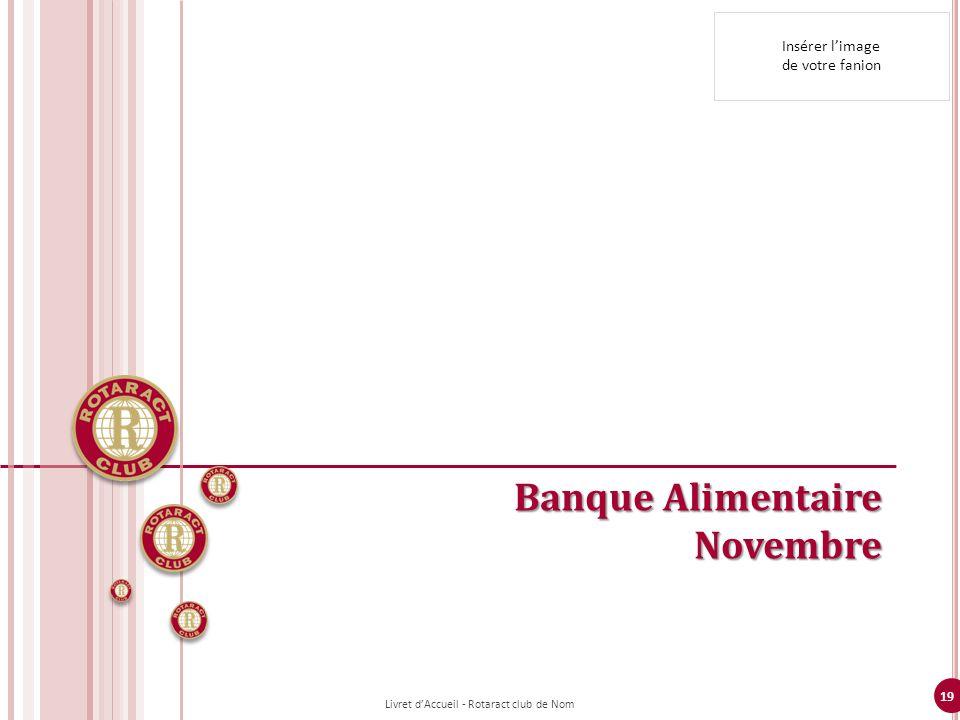 19 Banque Alimentaire Novembre Insérer limage de votre fanion Livret dAccueil - Rotaract club de Nom