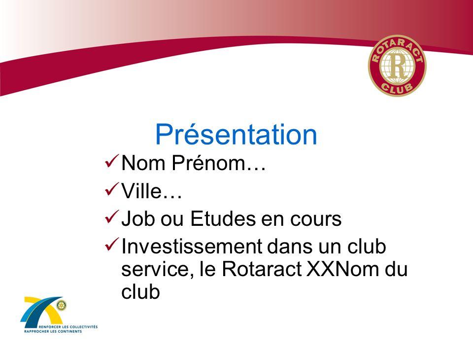 La Famille du Rotary RYLA EGE : échanges groupes détudes Echange scolaire dun an Echanges familiaux dété Bourses détudes INTERACT ROTARACT