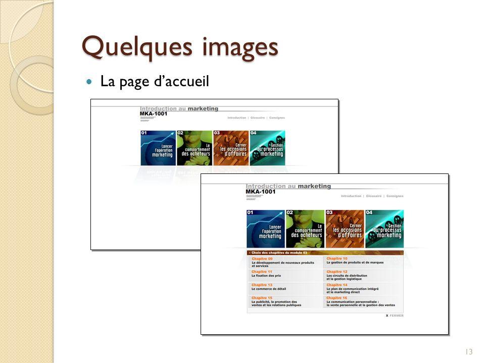 Quelques images 13 La page daccueil