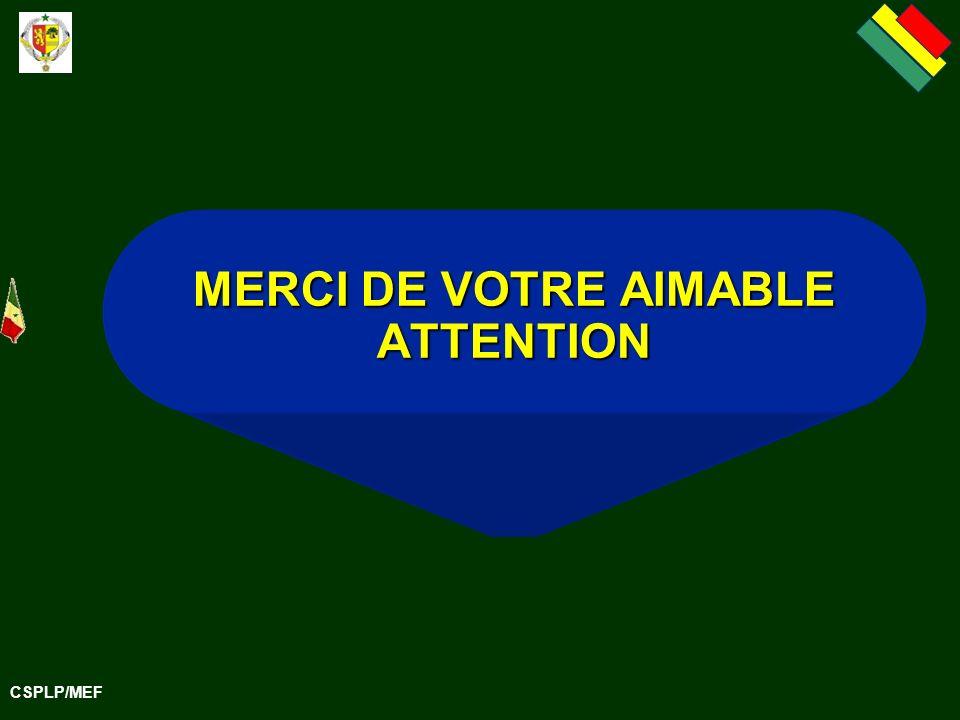 CSPLP/MEF MERCI DE VOTRE AIMABLE ATTENTION