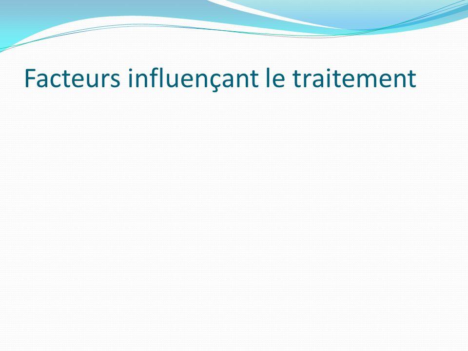 Facteurs influençant le traitement