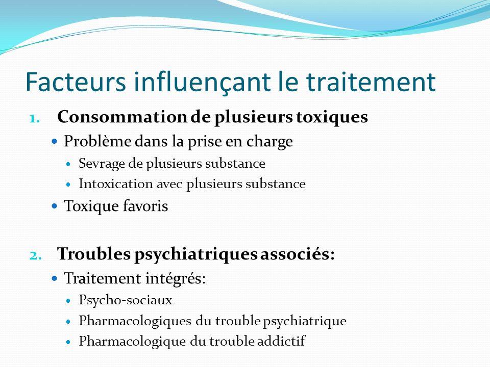 1. Consommation de plusieurs toxiques Problème dans la prise en charge Sevrage de plusieurs substance Intoxication avec plusieurs substance Toxique fa