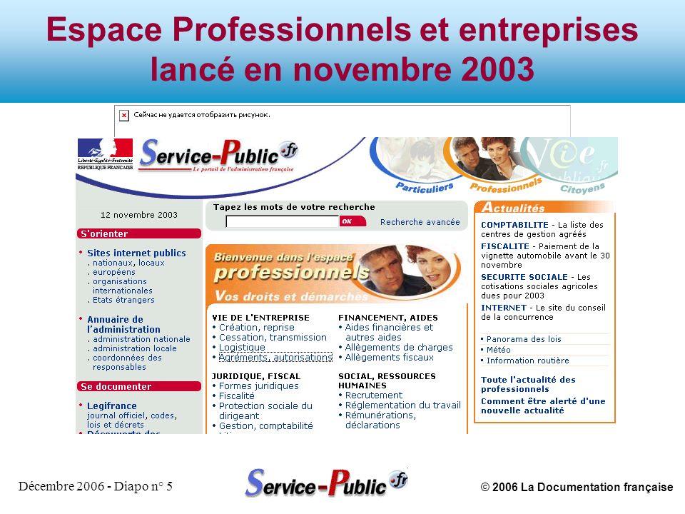 © 2006 La Documentation française Décembre 2006 - Diapo n° 16 Qui sont les utilisateurs de service-public.fr .