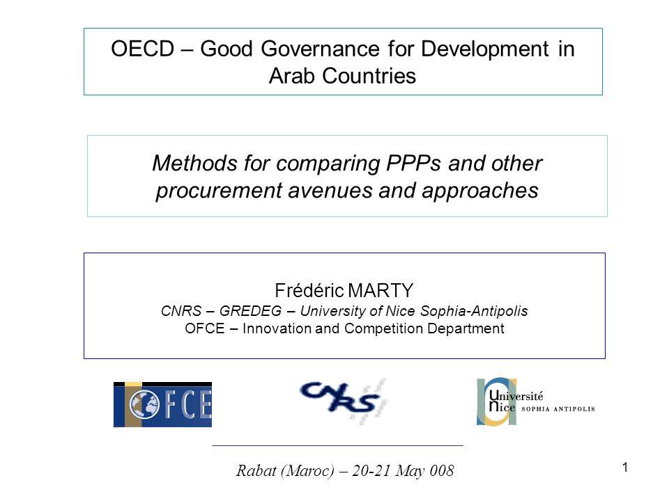 2 Les méthodes de comparaison de coûts public-privé : quels enseignements tirer des pratiques britanniques .