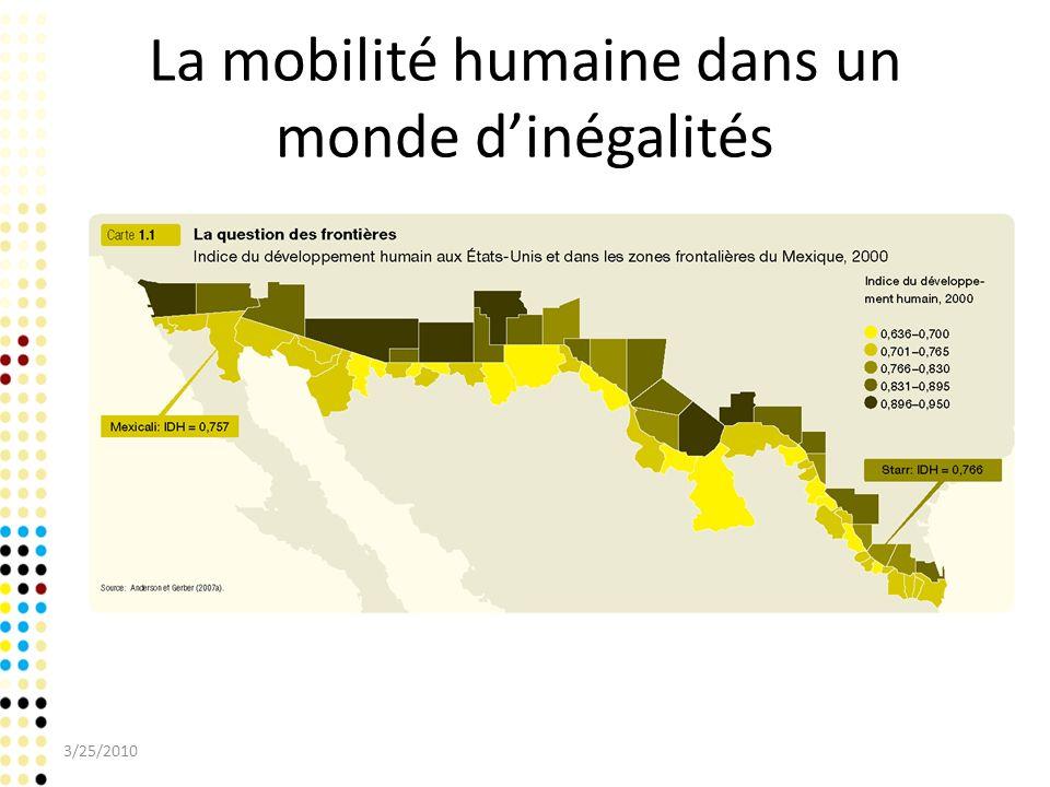 La mobilité humaine dans un monde dinégalités 3/25/2010