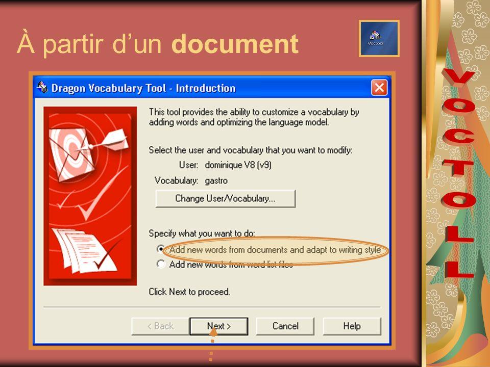 À partir dun document
