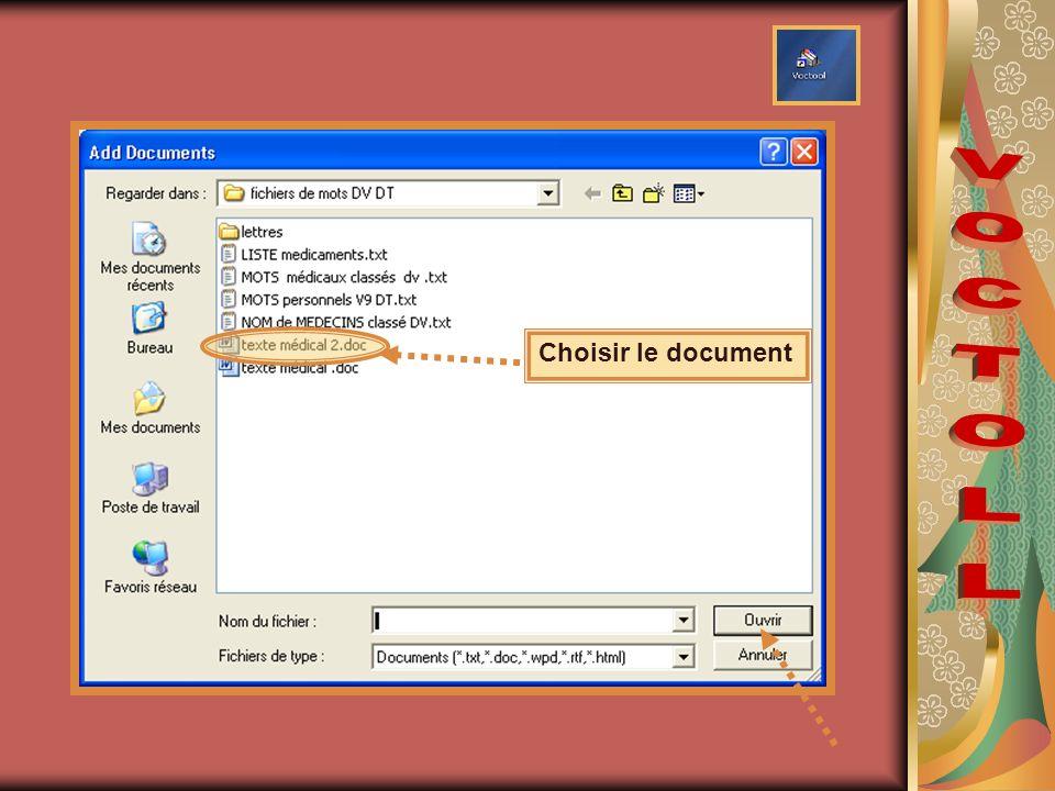 Choisir le document
