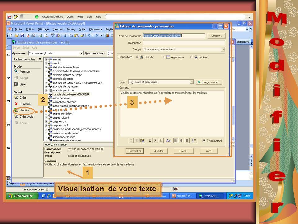Visualisation de votre texte 2 1 3