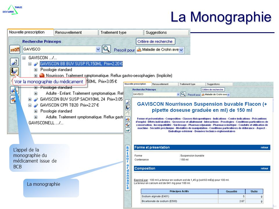 CEGEDIM LOGICIELS MEDICAUX © copyright 2004 – this document should not distributed without CEGEDIM authorisation La monographie Lappel de la monograph