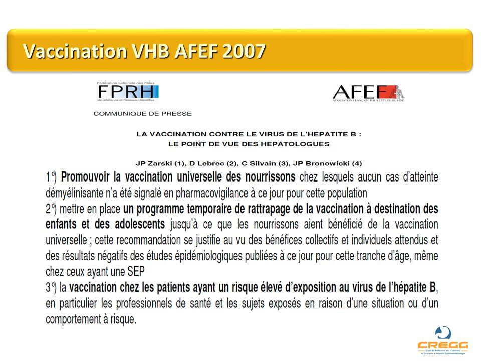 Vaccination VHB AFEF 2007