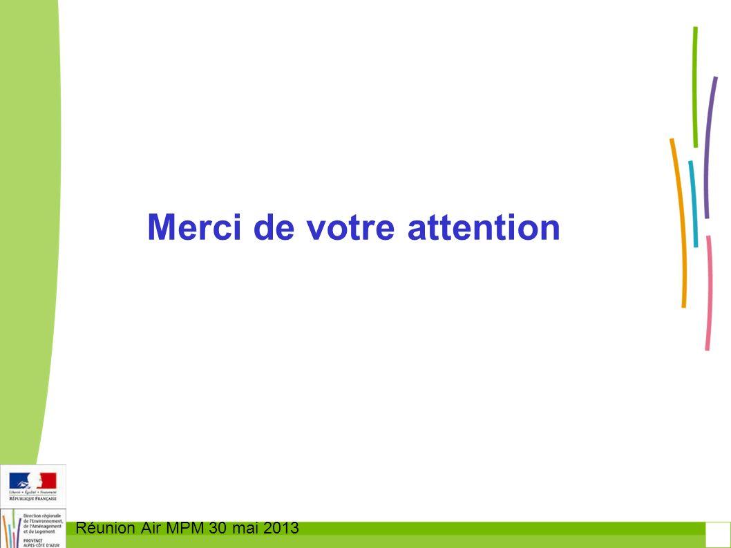 Réunion Air MPM 30 mai 2013 Merci de votre attention