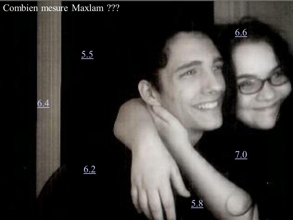 Combien mesure Maxlam ??? 6.4 6.2 6.6 7.0 5.5 5.8