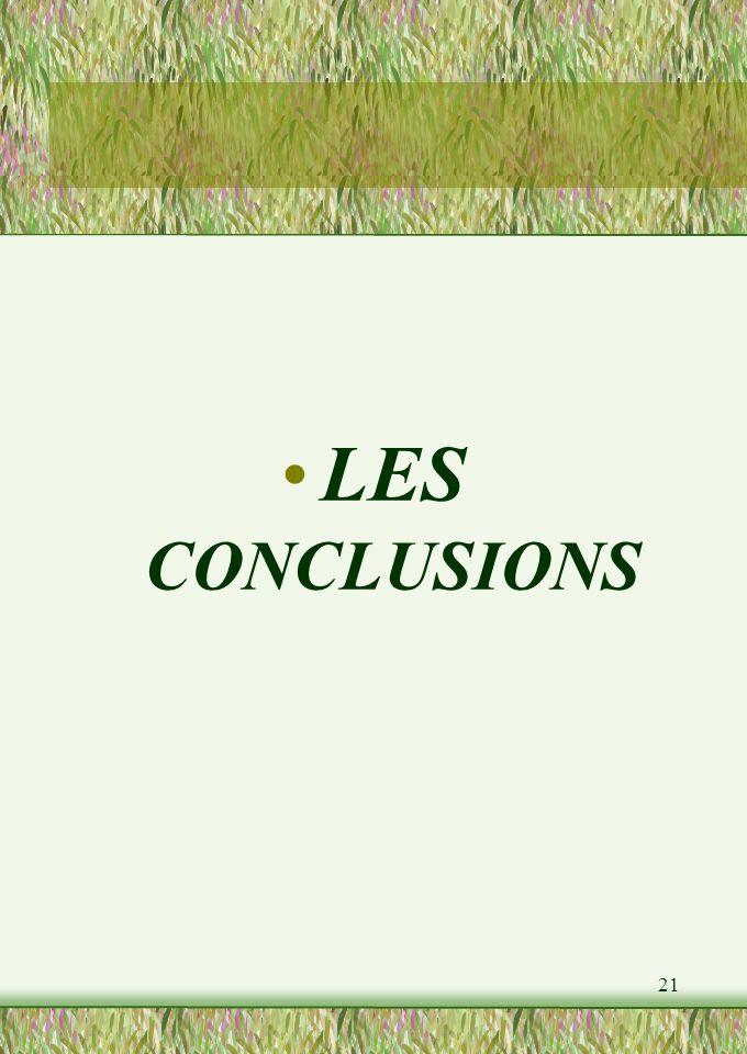 21 LES CONCLUSIONS