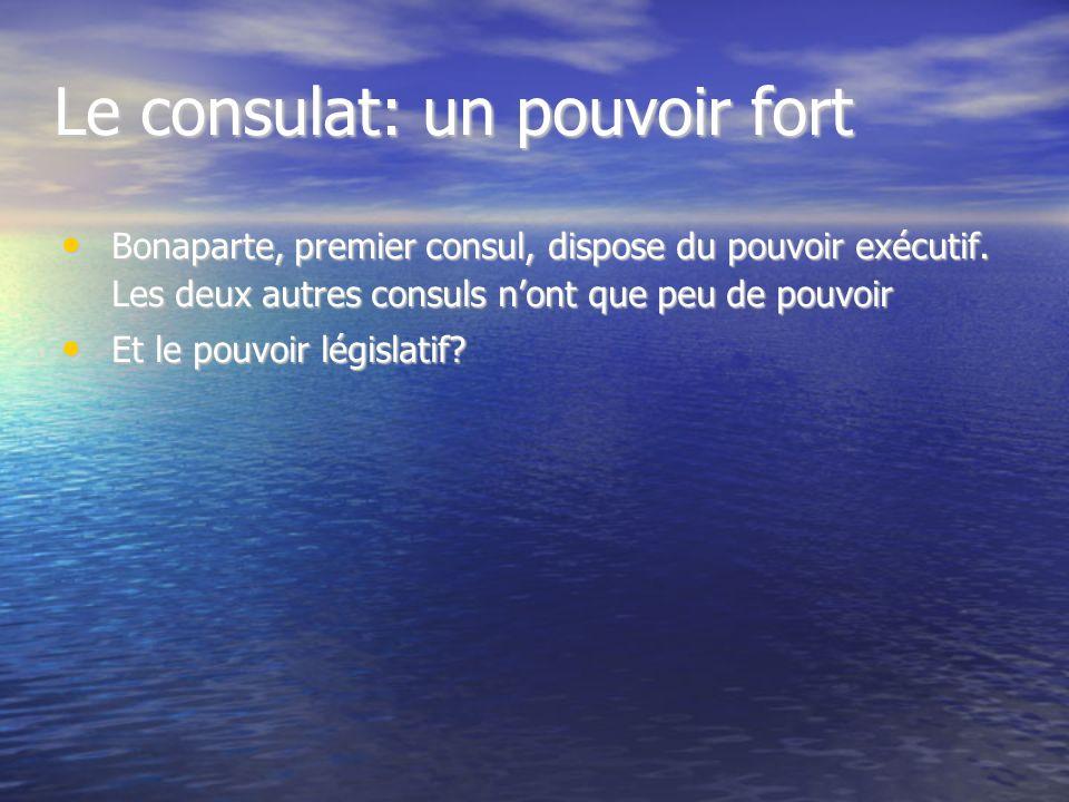 LES TROIS CONSULS: Bonaparte Cambacérès - Lebrun Où le peintre les a-t-il placés dans le tableau? Pourquoi? Ils sont en hauteur et Ce sont eux qui dir