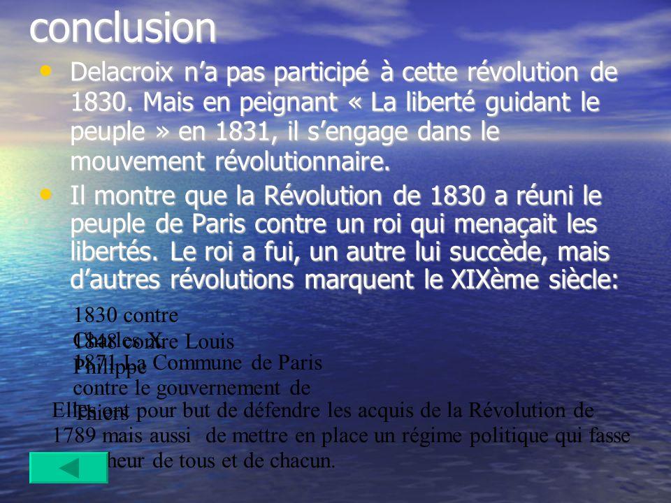 Les symboles de la Révolution Retour au tableau Le drapeau révolutionna ire interdit par Charles X Le bonnet phrygien des Sans Culottes Rappel des couleurs du drapeau Clique pour les voir apparaître