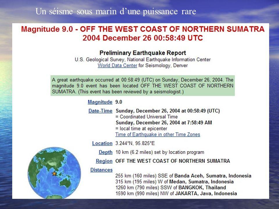 Exemple Le 26 décembre un tsunami dune puissance rare Quelle est son origine ?