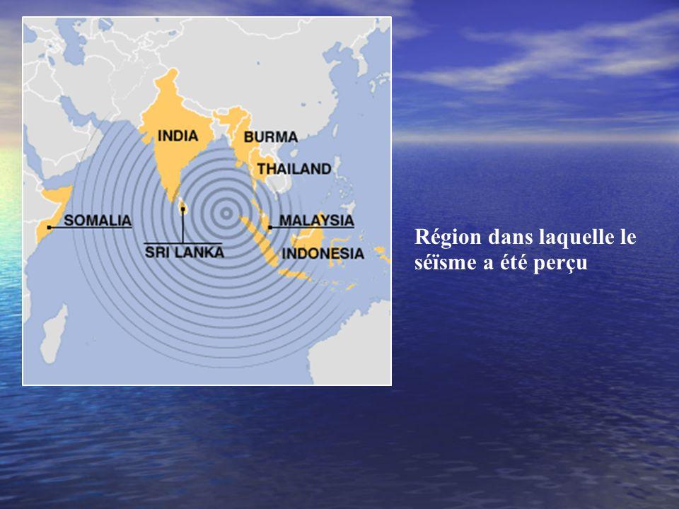 Lépicentre du tremblement de terre à lOuest des côtes du nord de lîle indonésienne de Sumatra