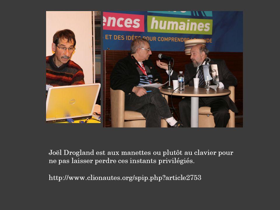 Joël Drogland est aux manettes ou plutôt au clavier pour ne pas laisser perdre ces instants privilégiés. http://www.clionautes.org/spip.php?article275