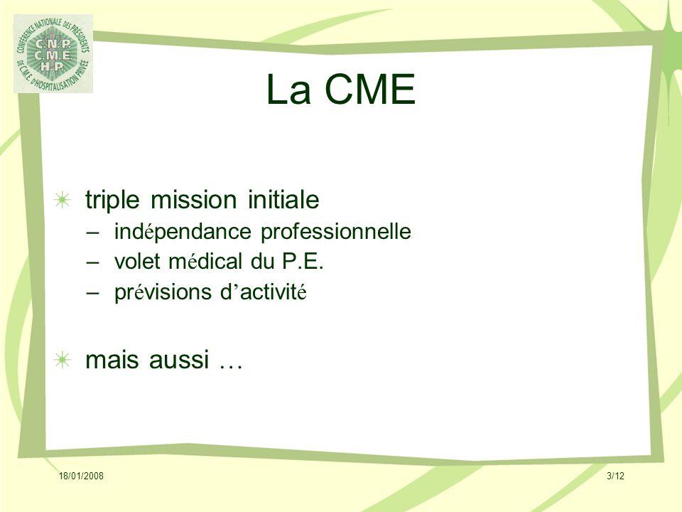 18/01/20084/12 La CME .