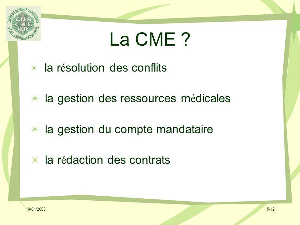 18/01/20085/12 La CME .