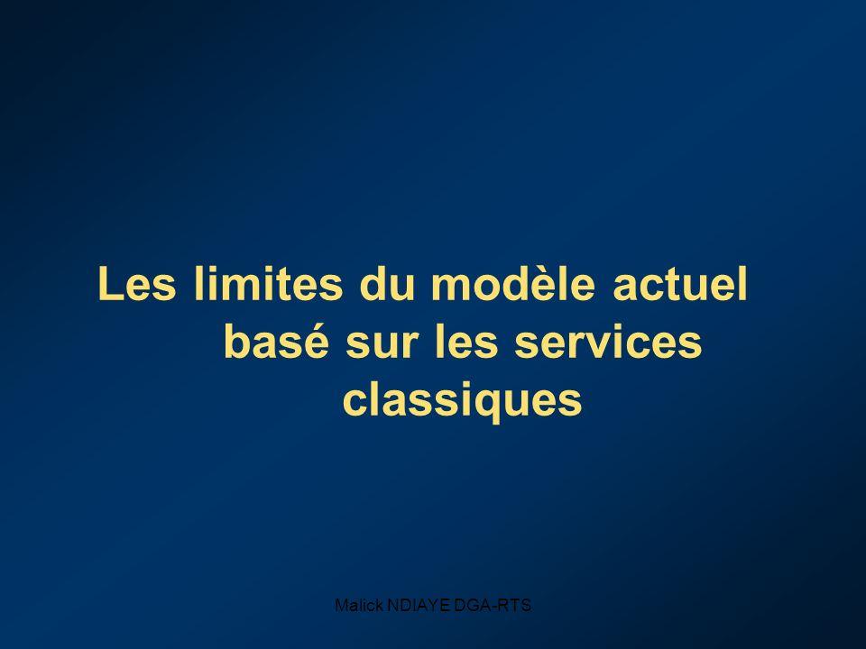 Malick NDIAYE DGA-RTS Les limites du modèle actuel basé sur les services classiques