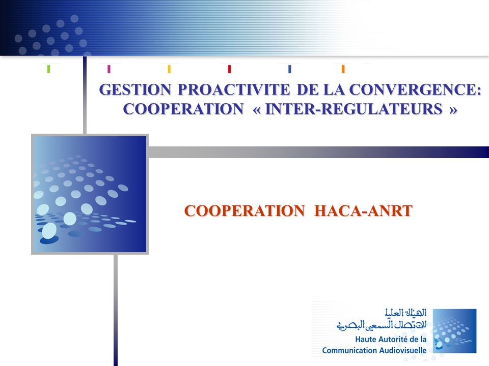 GESTION PROACTIVITE DE LA CONVERGENCE: COOPERATION « INTER-REGULATEURS » COOPERATION HACA-ANRT