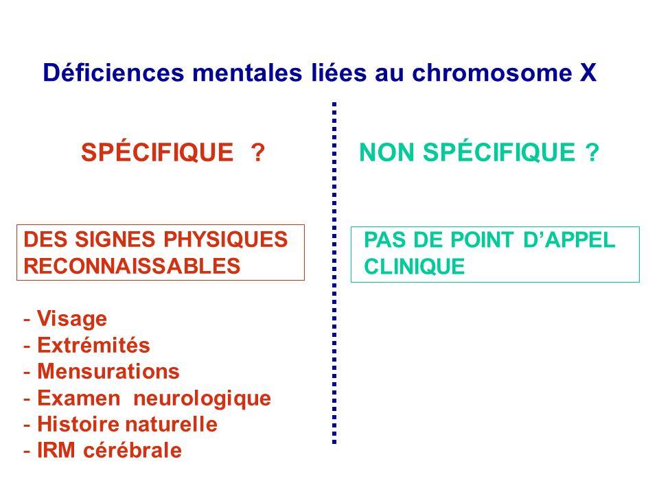 DES SIGNES PHYSIQUES RECONNAISSABLES - Visage - Extrémités - Mensurations - Examen neurologique - Histoire naturelle - IRM cérébrale PAS DE POINT DAPP