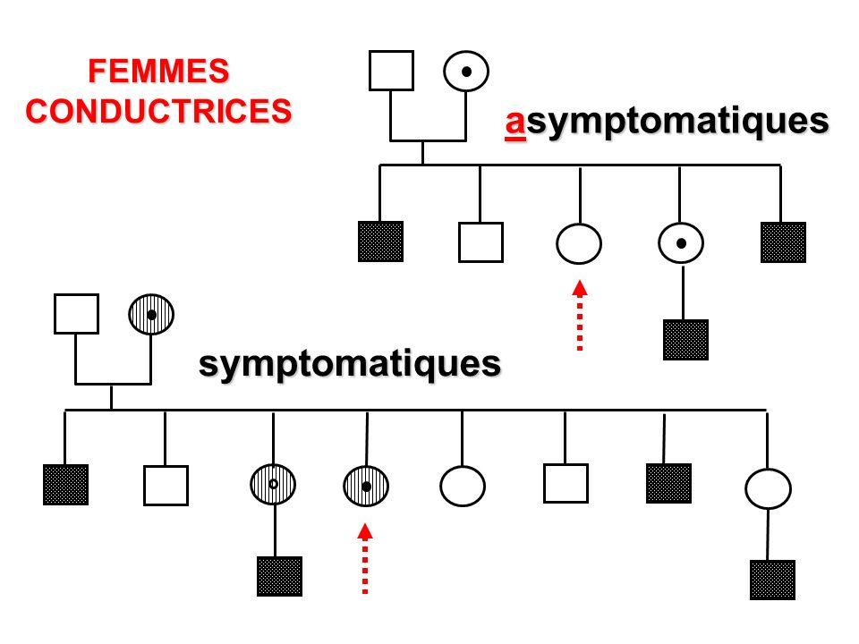 FEMMESCONDUCTRICES symptomatiques asymptomatiques