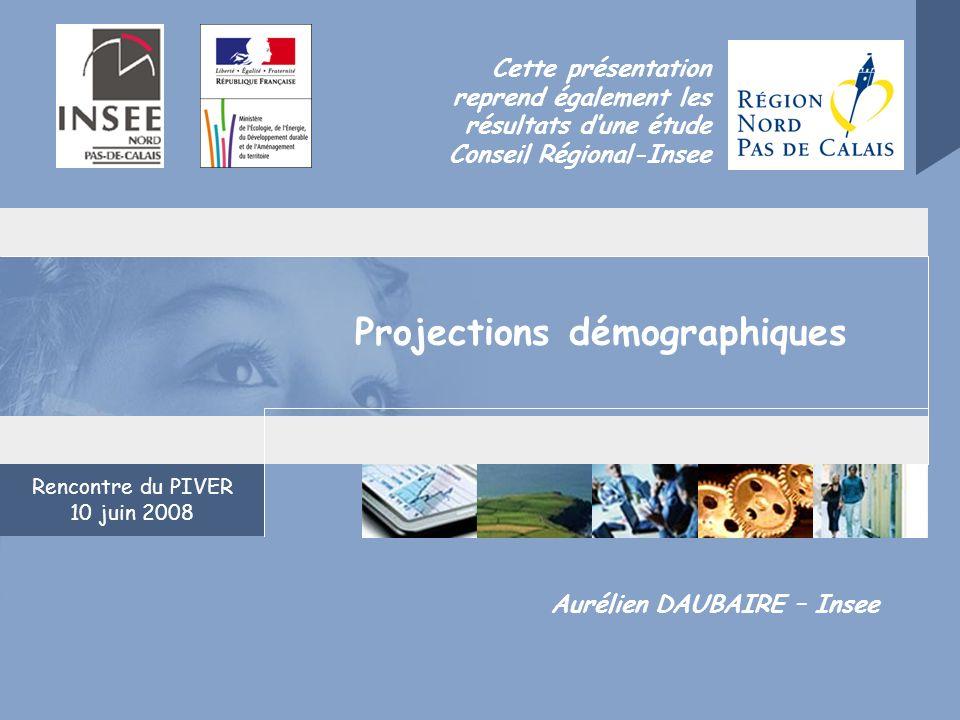 Rencontre du PIVER 10 juin 2008 Aurélien DAUBAIRE – Insee Cette présentation reprend également les résultats dune étude Conseil Régional-Insee Project