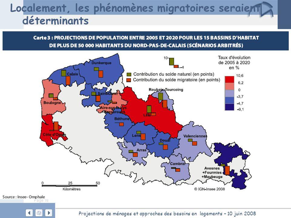 Page 18 Projections de ménages et approches des besoins en logements – 10 juin 2008 Localement, les phénomènes migratoires seraient déterminants
