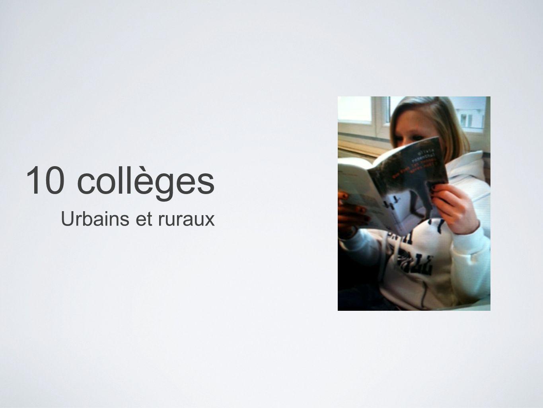 10 collèges Urbains et ruraux