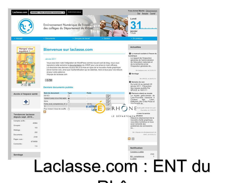 Laclasse.com : ENT du Rhône