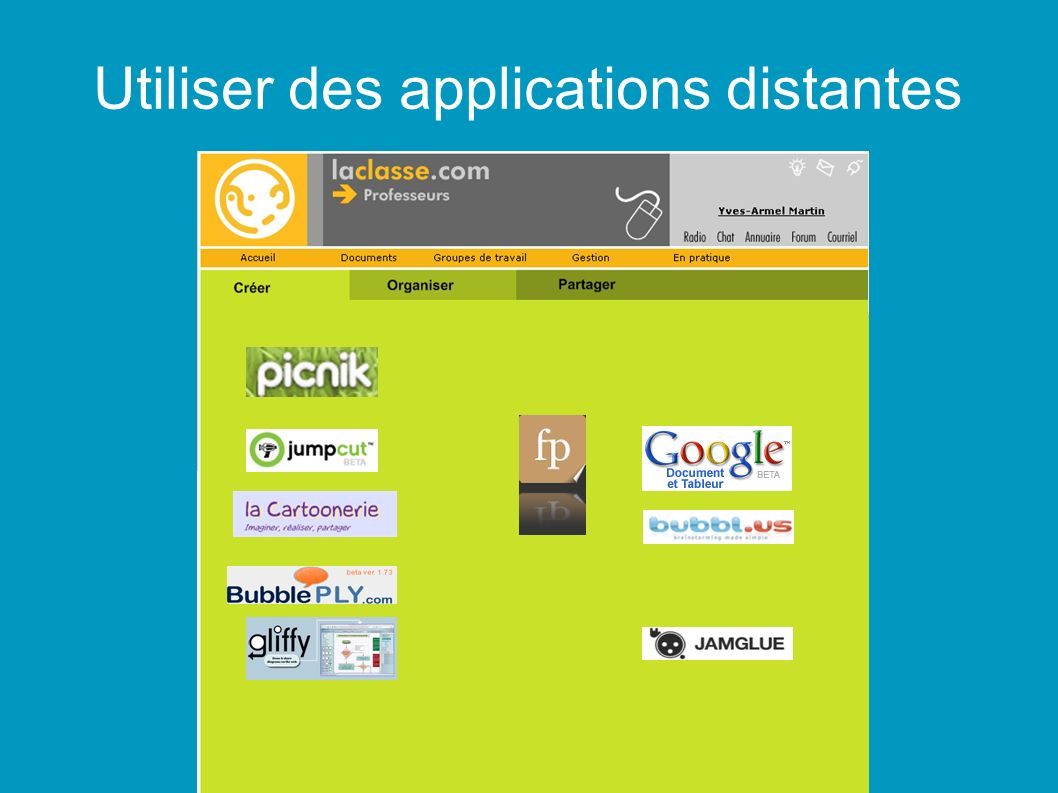 Utiliser des applications distantes