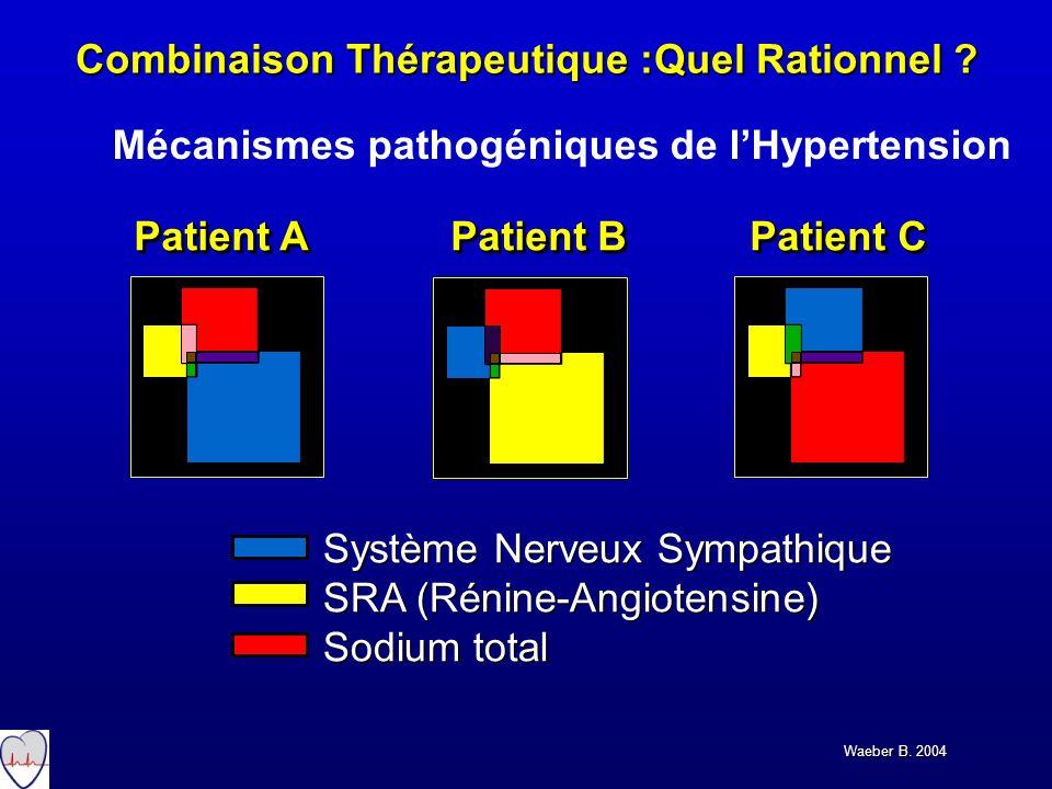 Système Nerveux Sympathique SRA (Rénine-Angiotensine) Sodium total Système Nerveux Sympathique SRA (Rénine-Angiotensine) Sodium total Patient A Patien