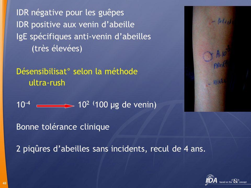 41 DESENSIBILISATION CARTE DALLERGIQUE TROUSSE DURGENCE