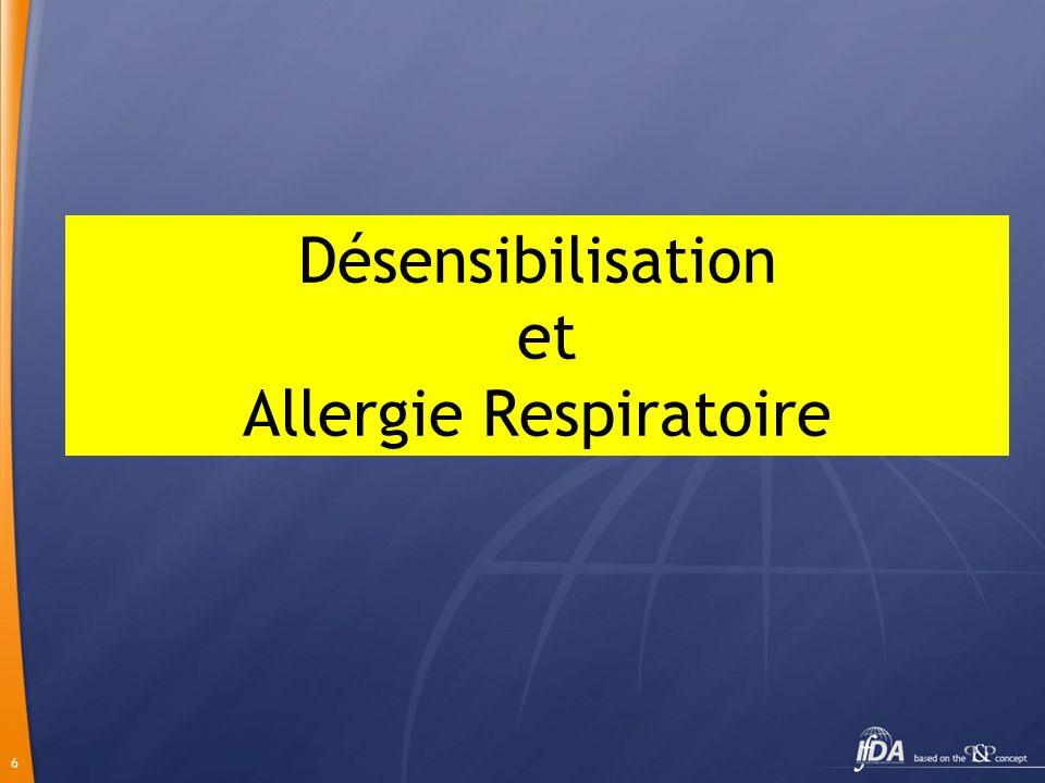 6 Désensibilisation et Allergie Respiratoire